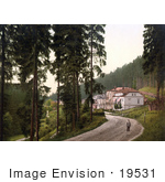 #19531 Photo Of A Man On A Dirt Road In The Park In Marienbad Carlsbad Bohemia Czech Republic