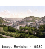 #19535 Photo Of Carlsbad As Seen From Bellevue Street Karlovy Vary Bohemia Czech Republic
