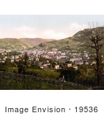 #19536 Photo Of A Man By A Fence Looking At The City Of Sarajevo Bosnia