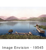 #19545 Photo Of A Man On A Boat On The Pliva Lake In Jajce Bosnia