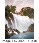 #19548 Photo Of A Man Standing On A Hill Overlooking The Waterfall In Jajce Bosnia
