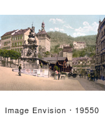 #19550 Photo Of The Market Fountain In Carlsbad Bohemia Karlovy Vary