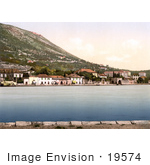 #19574 Photo Of The Waterfront Buildings Of Gravosa Dalmatia