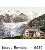 #19580 Photo of Glocknerhaus Hotel at Glacier Pasterze and Grossglockner Mountain in Carinthia, Austria by JVPD