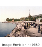#19589 Photo Of People And Luggage By Ships On The Waterfront Rijeka Fiume The Mole Croatia
