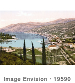 #19590 Photo Of The Harbor And Waterfront Village Of Gravosa Dalmatia