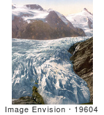 #19604 Photo Of Pasterze Glacier And Grossglockner Mountain In Carinthia Austria