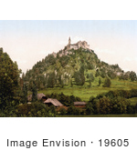 #19605 Photo Of The Medieval Hochosterwitz Castle Or Burg Hochosterwitz And A Village In Carinthia Austria