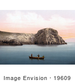 #19609 Photo Of Men In A Boat Near The Caves On The Island Of Busi Dalmatia