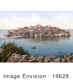 #19628 Photo of the Island Village of Sveti Stefan Near Budva, Montenegro, Dalmatia by JVPD