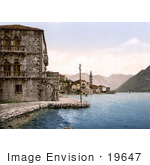 #19647 Photo Of The Village Of Perast With Stolievo On The Bay Of Kotor In Montenegro