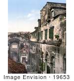 #19653 Photo of the Peristyle at Diocletian's Palace in Split, Croatia, Dalmatia by JVPD