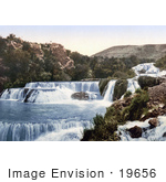 #19656 Photo Of The Middle Falls Of The Krka River In Sibenik Sebenico Croatia