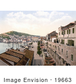 #19663 Photo Of The Waterfront Of Split Croatia