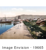 #19665 Photo Of Ships In The Harbor At Split Dalmatia