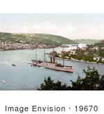 #19670 Photo Of The Rms Dunottar Castle Steamship