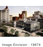 #19674 Photo Of The City Hall And Other Buildings In New York City