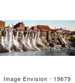 #19679 Photo Of Waterfalls From The Mills On The American Shore Of Niagara