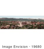 #19680 Photo Of Demver Colorado And The Rocky Mountains In The South Platte River Valley