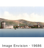 #19686 Photo Of Camerlengo Castle On The Adriatic Sea Coast In Trogir Croatia