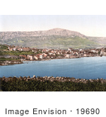 #19690 Photo Of The City Of Trogir Trau Croatia On The Adriatic Coast