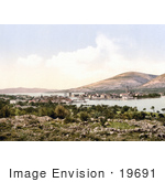 #19691 Photo Of The Harbor And City Of Trogir Tragurium Tragurion Trau Croatia