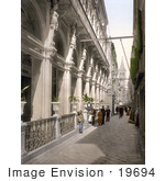 #19694 Photo Of People In An Alley Near The Central Cafe In Zadar Iadera Zara Croatia