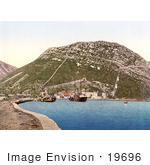#19696 Photo Of Ships In The Harbor At Ston On The Peljesac Peninsula In Croatia