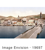 #19697 Photo Of The Ciero Bridge In Trogir Tragurium Tragurion Trau Croatia Dalmatia