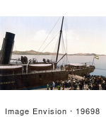 #19698 Photo Of People Boarding A Steamship In The Harbor At Zadar Iadera Zara Croatia
