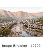 #19705 Photo Of The Neretva River Flowing Through The City Of Mostar Herzegowina