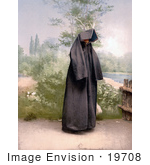 #19708 Photo Of A Mahomedan Woman In A Cloak Covering Her Entire Body Mostar Herzegowina
