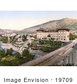 #19709 Photo Of The Narenta Hotel Near The Neretva River And Bridge In Mostar Herzegowina