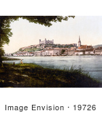 #19726 Photo Of Bratislava Castle On The Hill In The City Of Bratislava Pressburg On The Danube River In Slovakia