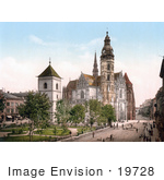 #19728 Photo Of The St Elisabeth Cathedral In Kosice Cassovia Caschovia Kaschau Kassa Koszyce Slovakia Hungary