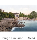 #19764 Photo Of The Baths Or Swimming Area In Opatija Abbazia Sankt Jakobi Istria Croatia