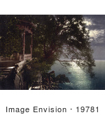 #19781 Photo Of Chairs On A Gazebo Under Moonlight Near The Baths In Opatija Abbazia Sankt Jakobi Istria Croatia