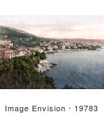 #19783 Photo Of The Town Of Opatija Abbazia Sankt Jakobi Istria Croatia