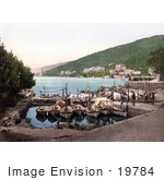 #19784 Photo Of Men By Boats At The Marina In Opatija Abbazia Sankt Jakobi Istria Croatia
