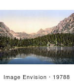 #19788 Photo Of A Hotel And Evergreen Forest On The Popper See Lake In The Tatra Mountains