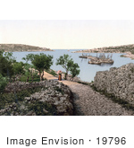 #19796 Photo Of A Woman Walking On A Path Near The Marina Cigale Istria