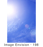 #198 Photograph Of A Sunny Blue Sky