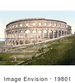 #19801 Photo of the Pula Arena Coliseum in Pula, Istria, Croatia by JVPD