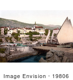 #19806 Photo Of A Sailboat At Opatija Abbazia Sankt Jakobi Istria Croatia