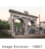 #19807 Photo Of The Double Arched Gate Porta Gemina Or Germine Gate In Pula Istria Croatia