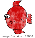 #19886 Red Fish Clipart Picture