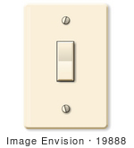 #19888 Common Light Switch Clipart