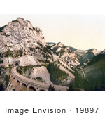 #19897 Stock Picture Of The Kalte Rinne Viaduct And Tunnel Of The Semmering Railway In Styria Austria