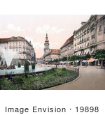 #19898 Stock Picture Of A Water Fountain In Herrengasse Graz Styria Austria