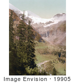 #19905 Stock Picture Of Valley Waterfall And Mountains Of The Alps Kaferthal Kafertal Fuseher Giskar Salzburg